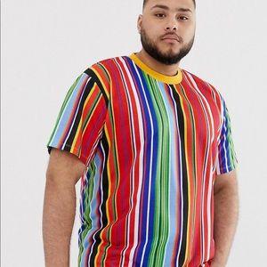 Muti-colored Men's ASOS Striped Tee